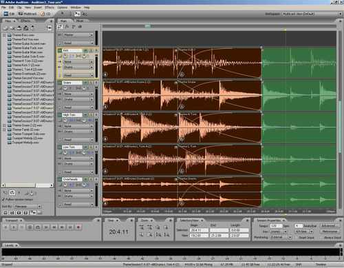 Adobe Audition 3 - screen